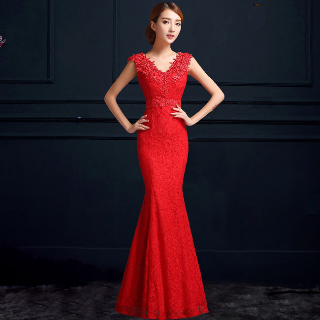 Asian Inspired Mandarin Red Chinese Dress 28
