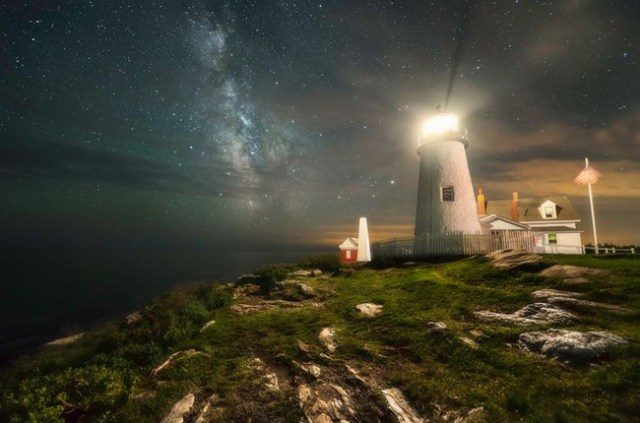 Milky Way at Pemaquid Point Light