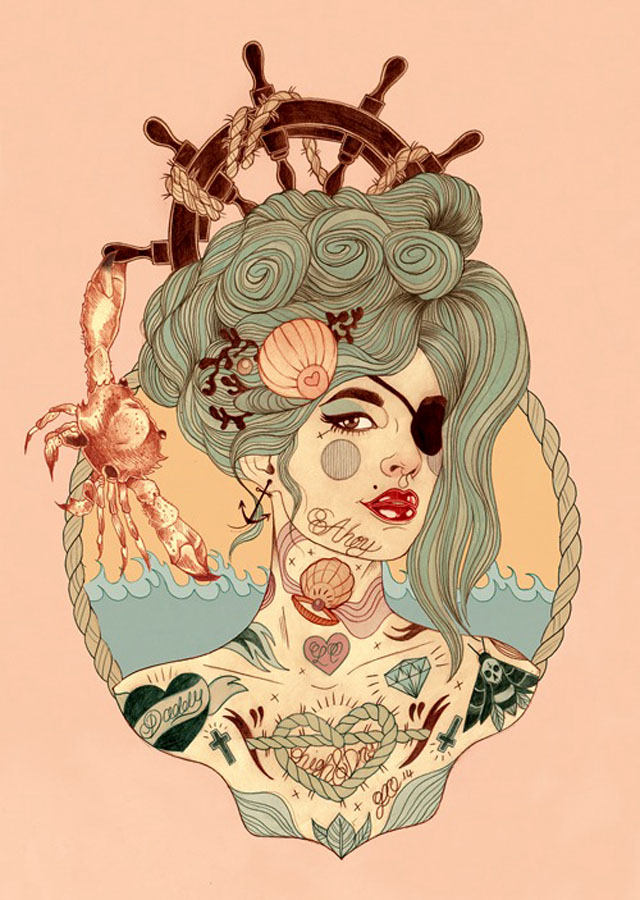 Tattoo inspired art by Liz Clements (12)
