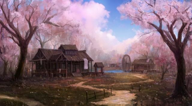 village_of_peach_flower_by_wanbao_futuristic_art
