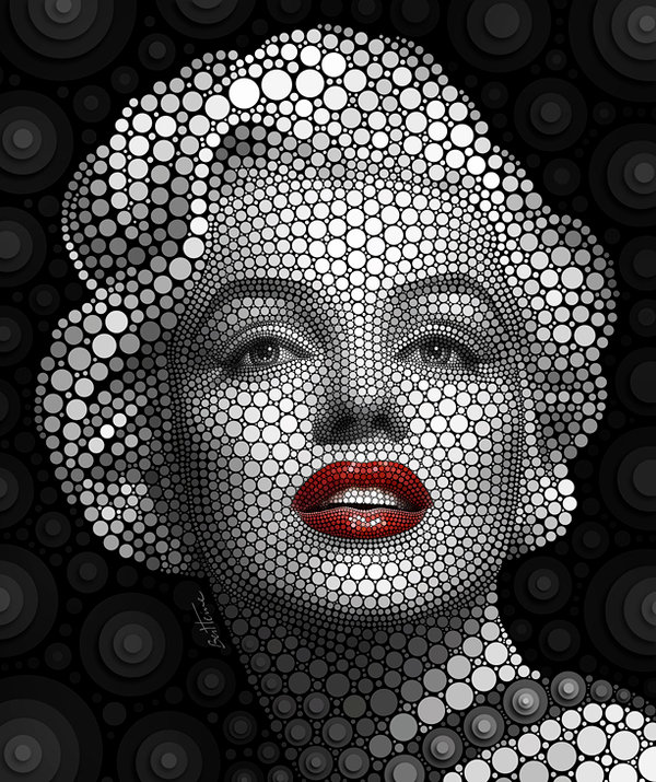 Marilyn Monroe Illustration by Ben Heine