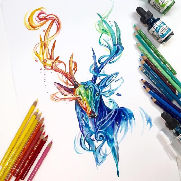 Pencil_Marker_Animal_illustrations_By_Katy_Lipscomb (19)