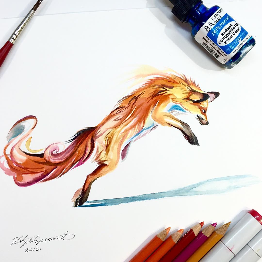 Wild Animal Spirits In Pencil And Marker Illustrations By Katy Lipscomb
