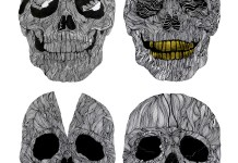 Extraordinary Human Skull Illustrations by Sam Sephton