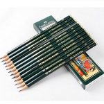 Faber-Castell Pencils, Castell 9000 graphite pencils, HB Pencil, 12 pack (HB)