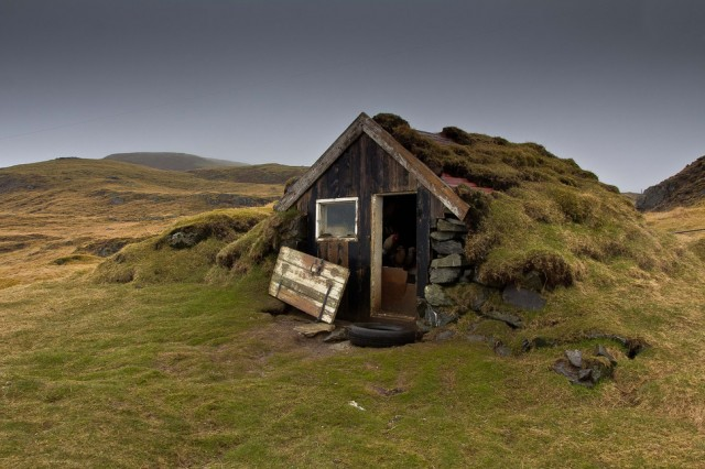 Iceland. The real hobbit hut