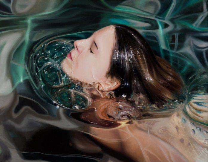 underwater oil paintings