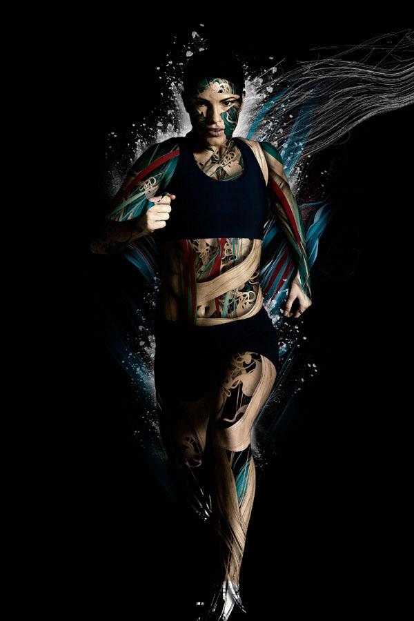 illustration art woman running