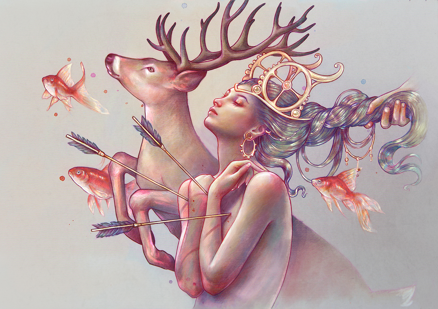 The Beauty of Female Figures in illustrations by Spanish Illustrator Marta Adán (8)