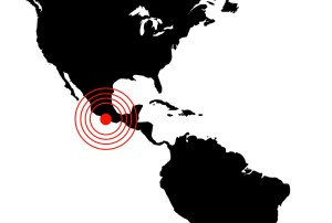 Earthquake in Mexico, illustration