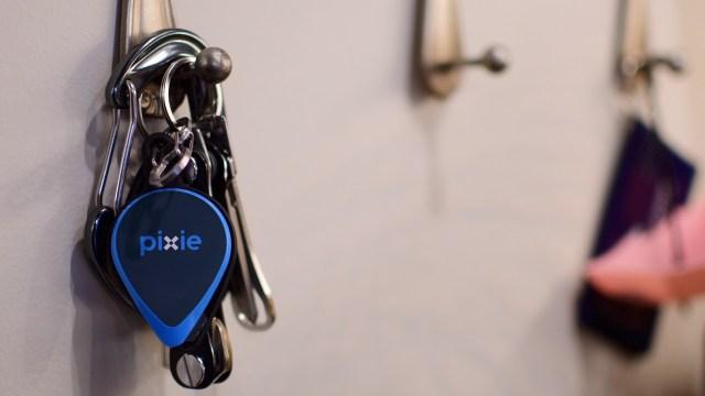 Pixie-Tracker-on-Keys_ Bluetooth Trackers