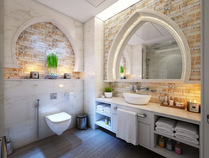 start a bathroom renovation project.