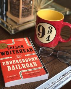 THE UNDERGROUND RAILROAD by Colson Whitehead.