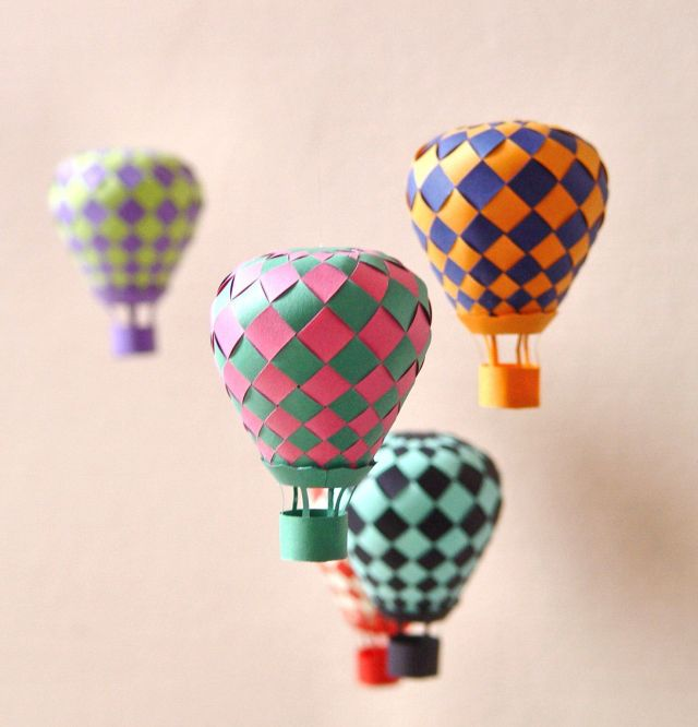 balloon paper art project
