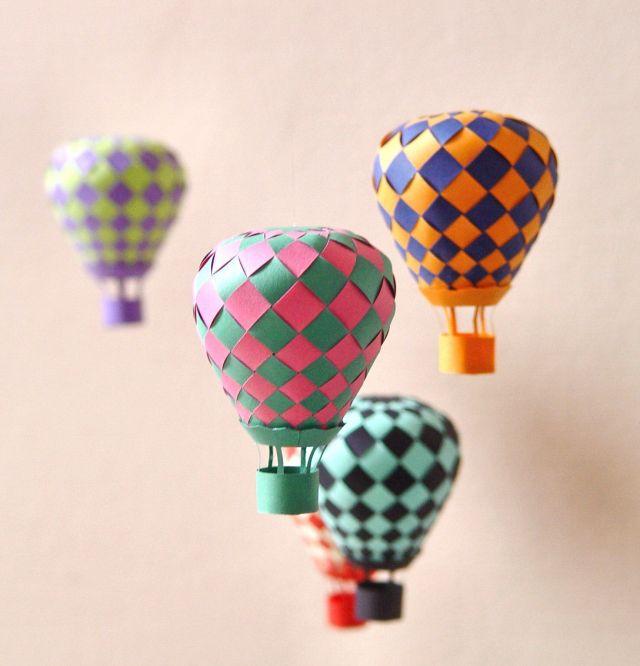 balloon paper art project