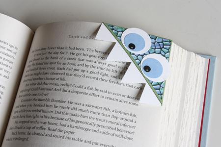 paper monster bookmarks.