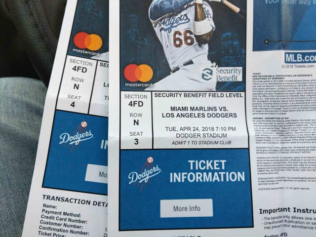 Dodger tickets.