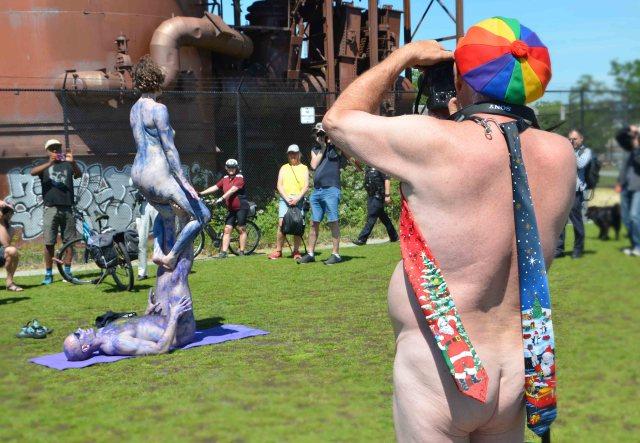 Fremont Solstice Parade art yoga