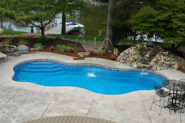 fiberglass pool.