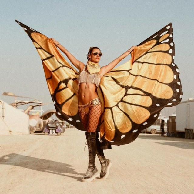 Alessandra Ambrosio at Burning Man Festival 2018