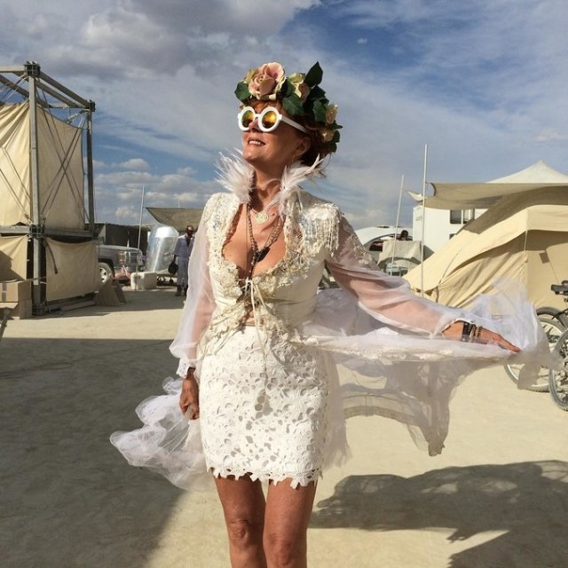 Susan Sarandon at Burning Man Festival 2018