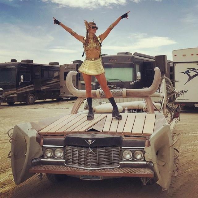 Paris Hilton at Burning Man Festival