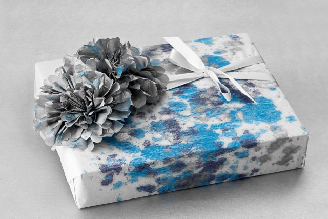melted crayons could make such a beautiful gift wrapper