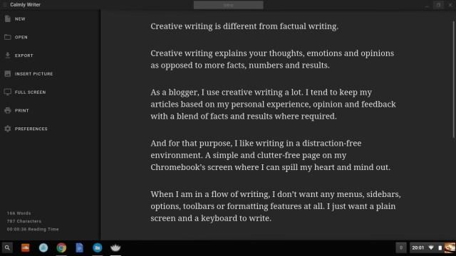 Calmly Writer