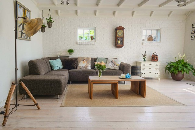 Living Room With Pillows
