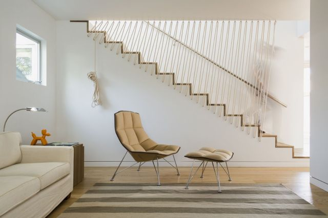 Staircase More Attractive With Driftwood Handrail
