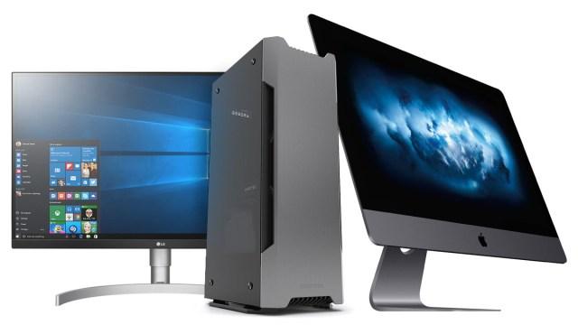 pc workstation v iMac pro