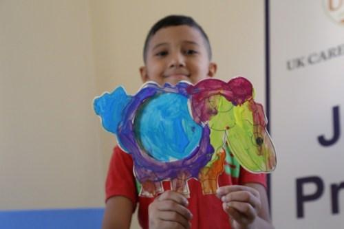 Palestinian child having fun during Interpal's Eid Al Adha distributions, Lebanon