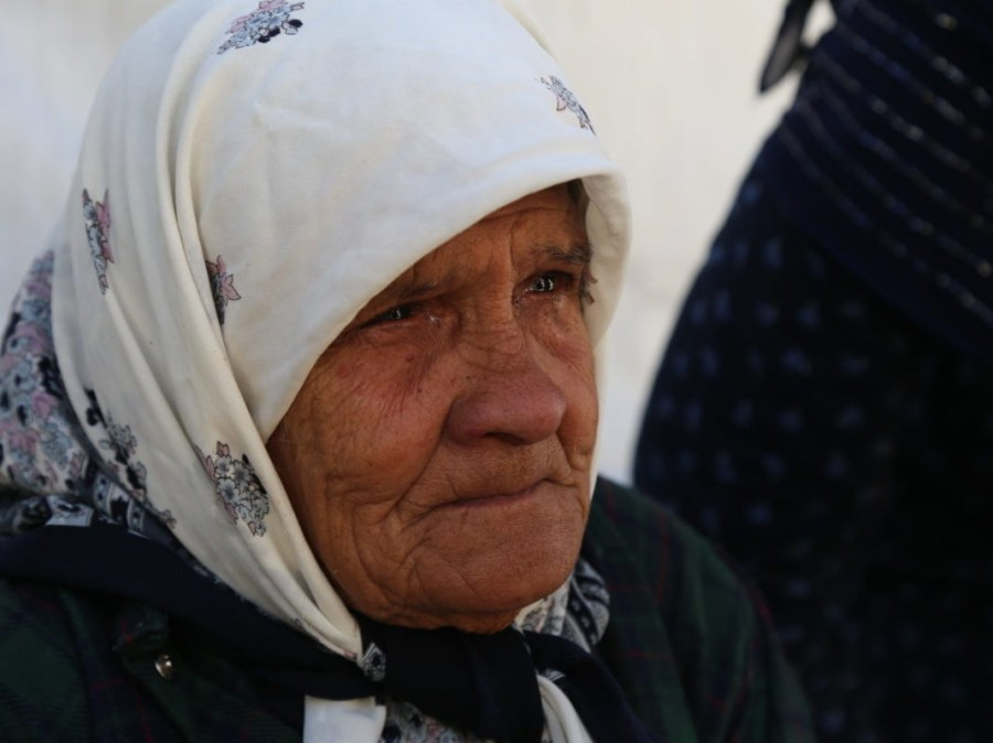 A Palestinian refugee women seen in Lebanon's Bekaa Refugee Camp