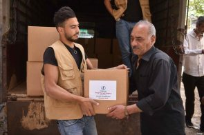 Interpal distributes aid to Palestinian refugees in need