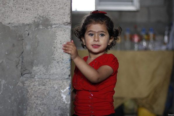 A Palestinian child seen during Interpal's efforts to help palestinians in need