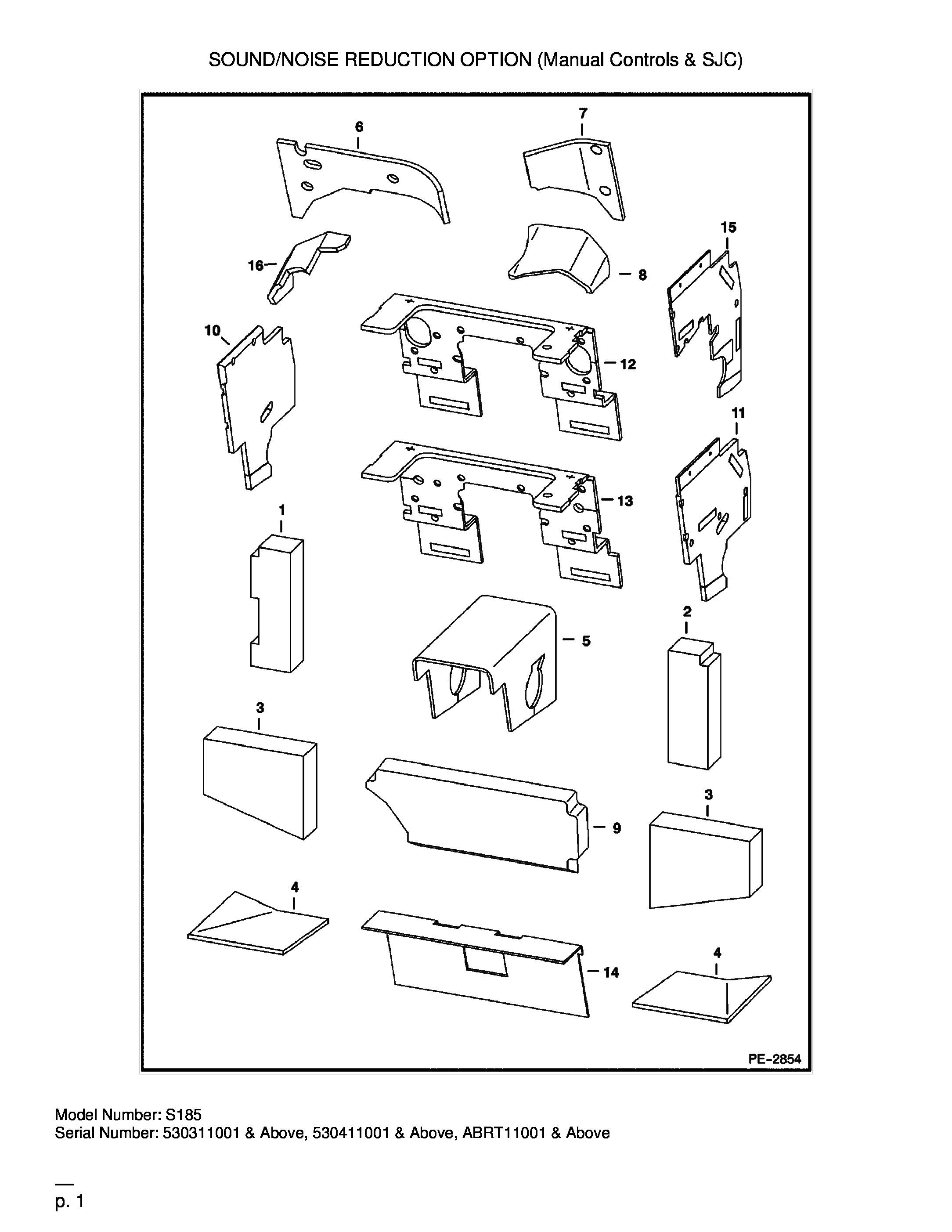 KIT DE REDUCTION DE BRUIT (Manual Controls & SJC)[703741