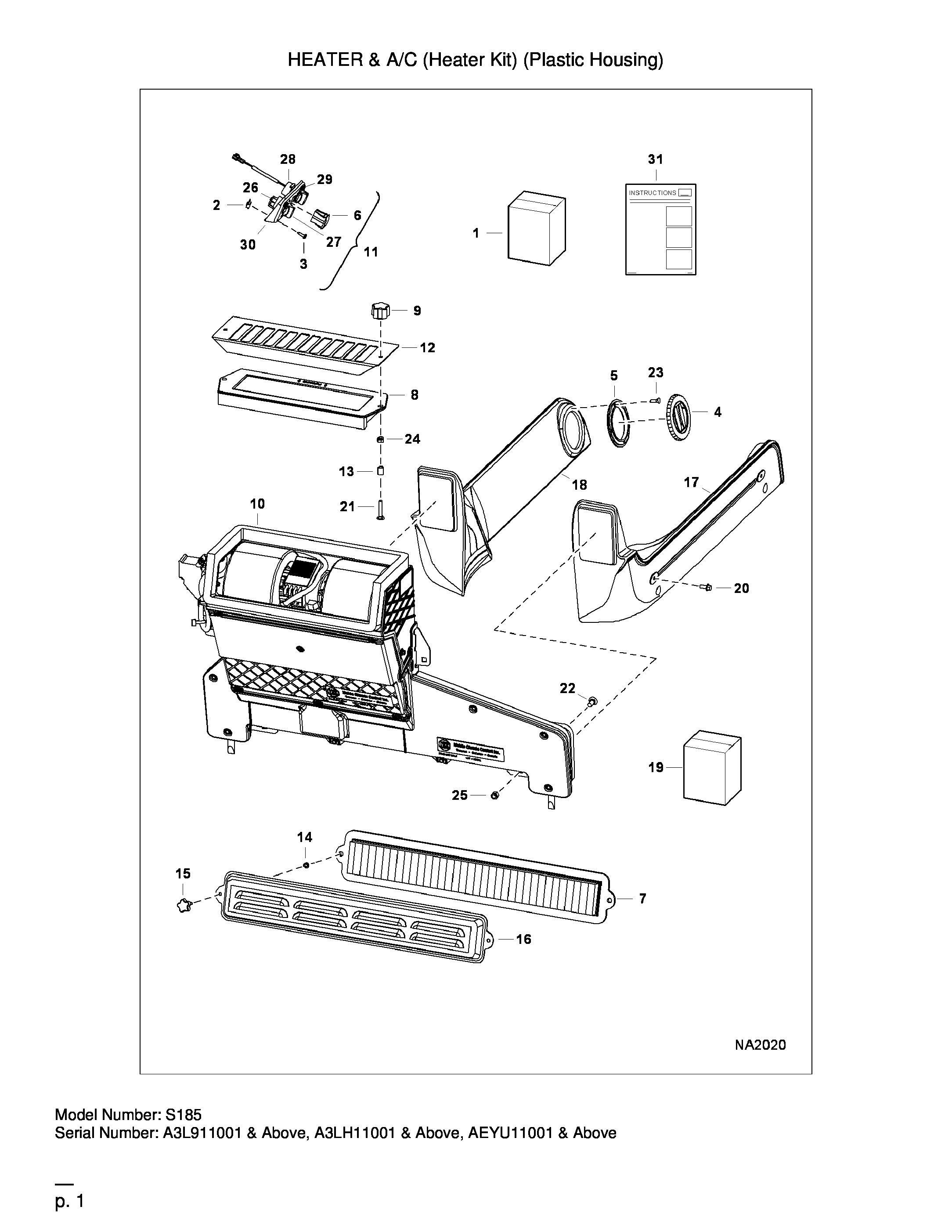 Chauffage Et Air Conditionne Heater Kit Plastic Housing