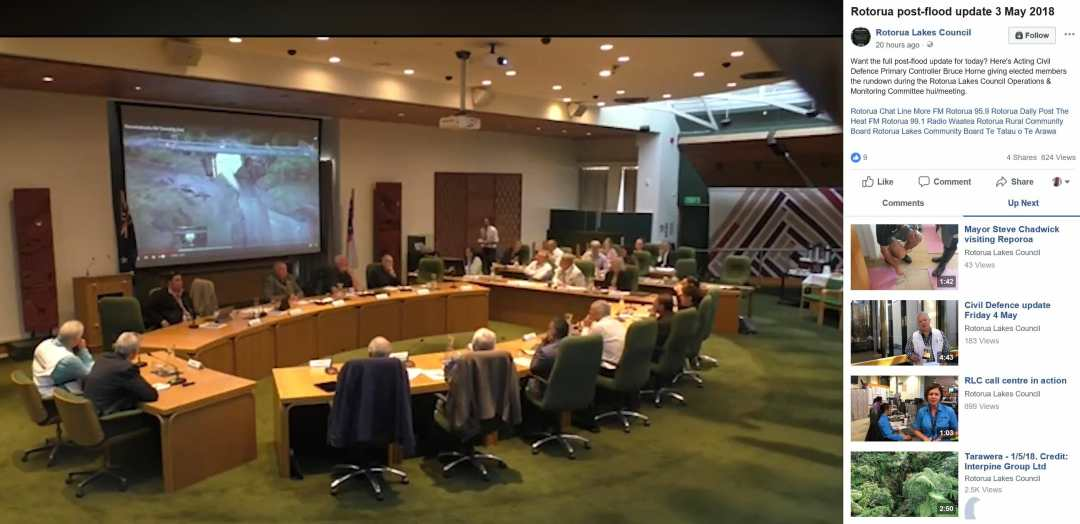 Rotorua Lakes Council Reviewing Interpine Drone Footage