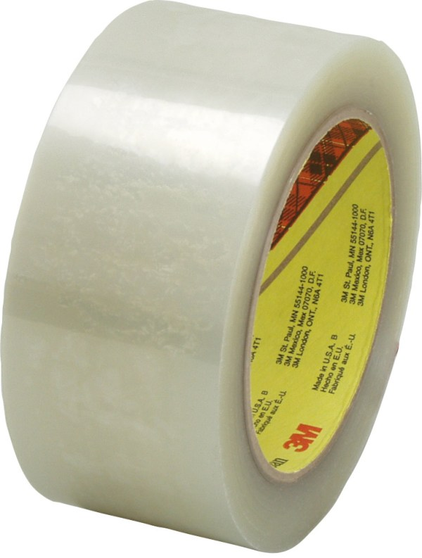 3M 355 Scotch Clear Box Sealing Tape 2quot x 55 Yards