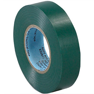3/4 in x 20 yds 7 Mil Green Electrical Tape