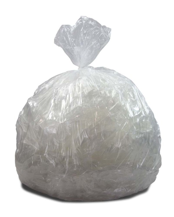 33 Gallon Clear Regular Duty Trash Bags - 0.5 Mil 250 Cs