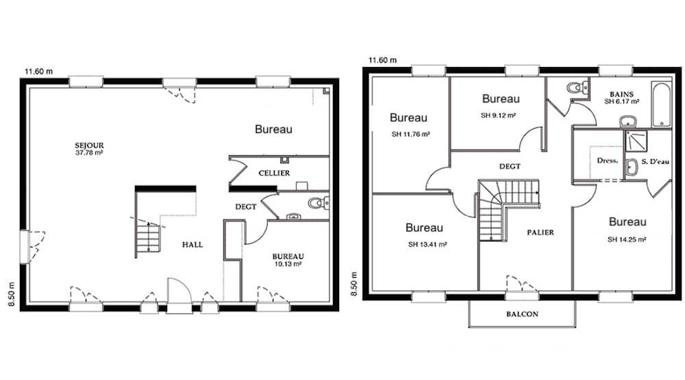 Plan Mairie / Bâtiment administratif