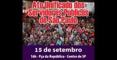 Centrais realizam ato unificado dos Servidores Públicos de SP