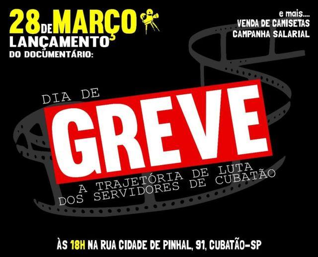 Servidores de Cubatão exibem o documentário 'Dia de Greve'
