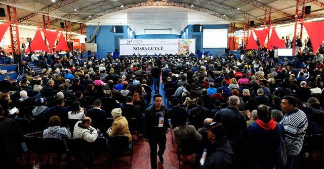 estratégias de luta, conferência, evento, atividade, muitas pessoas, muitos homens, muitas mulheres, quadra dos bancários, conferencia nacional dos bancários