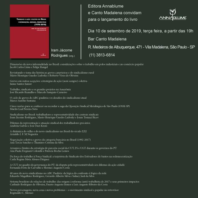 Trabalho e Ação Coletiva no Brasil - Iram Jácome