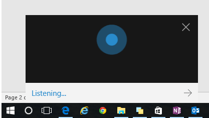 Open Cortana to Listening Mode 1