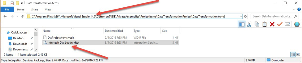 Where to place SSIS packages