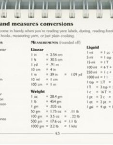 Are in  knitting yarn that has yd  you need this page   ve even photocopied it to use the kitchen for its liquid and weight conversions also weaving bibles two books can  weave without interweave rh
