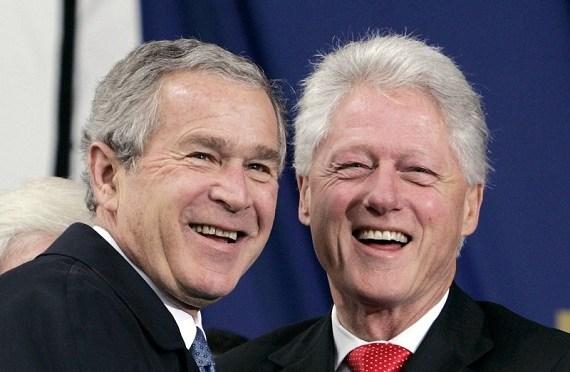 Bill Clinton le pregunta a George W. Bush porque no tiene perfil en Twitter
